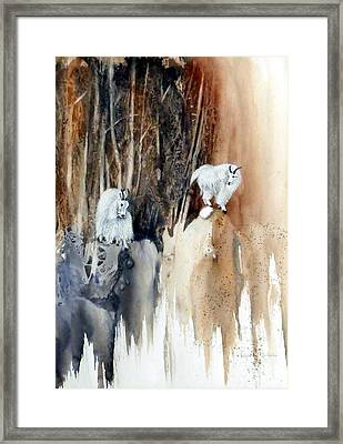 Its Not That Far Framed Print by Lynne Parker