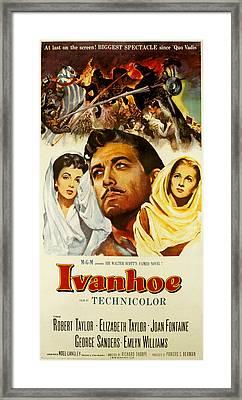 Ivanhoe, Elizabeth Taylor, Robert Framed Print by Everett