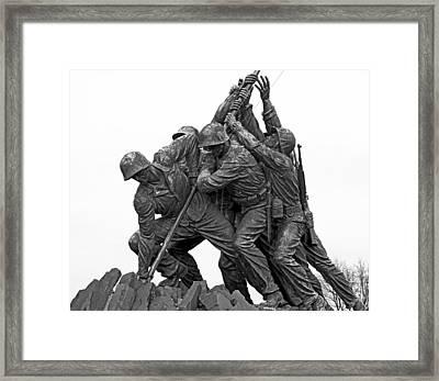 Iwo Jima Memorial In Arlington Virginia Framed Print by Brendan Reals