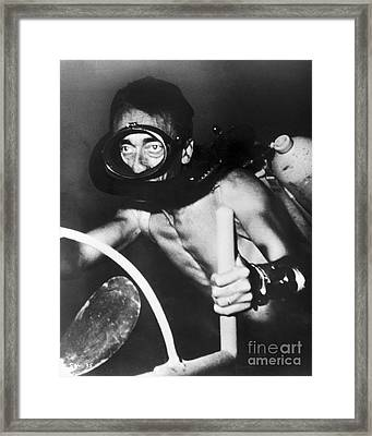 Jacques Cousteau (1910-1997) Framed Print by Granger