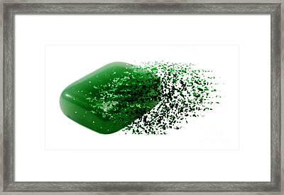 Jade Semiprecious Gemstone Framed Print by Ilan Rosen