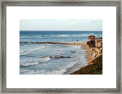 Jaffa Beach 7 Framed Print by Isam Awad