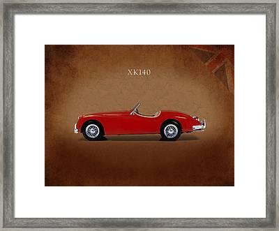 Jaguar Xk140 Framed Print by Mark Rogan