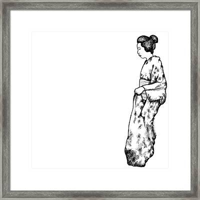Japanese Geisha Women Framed Print
