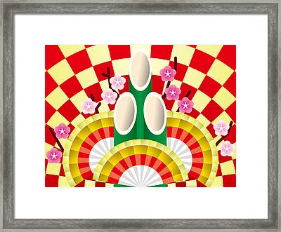 Japanese Newyear Decoration Framed Print