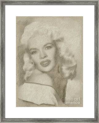 Jayne Mansfield Hollywood Actress And Pinup Framed Print by Frank Falcon