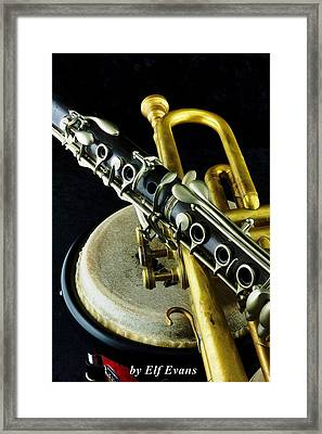 Framed Print featuring the photograph Jazz by Elf Evans