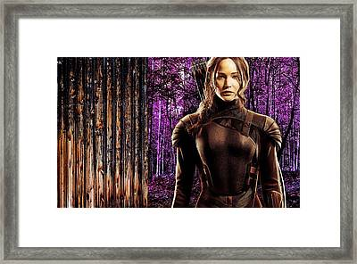 Jennifer Lawrence Collection Framed Print
