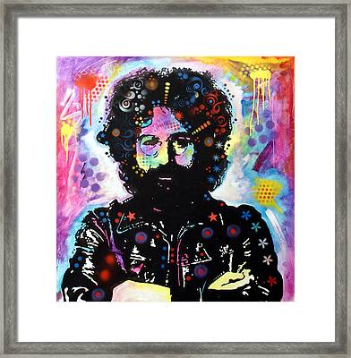 Jerry Garcia Framed Print by Dean Russo