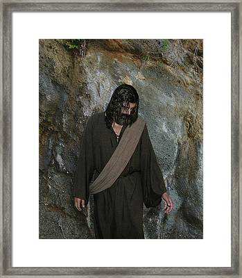 Jesus Christ- Rise And Walk With Me  Framed Print
