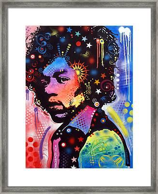 Jimi Hendrix Framed Print by Dean Russo