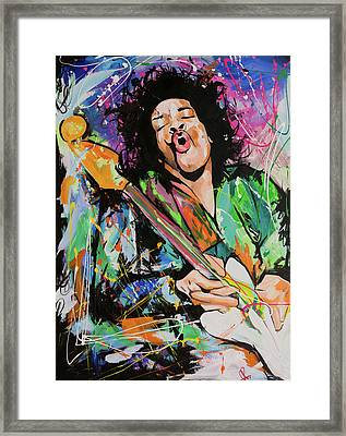 Jimi Hendrix Framed Print by Richard Day