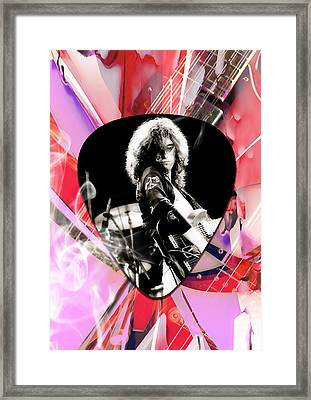 Jimmy Page Led Zeppelin Art Framed Print by Marvin Blaine