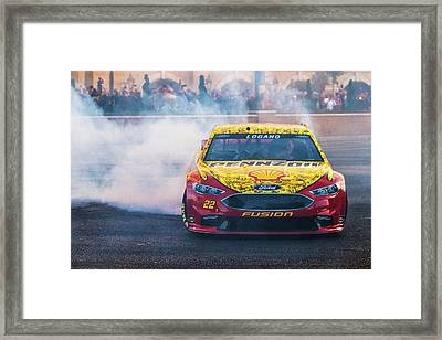 Joey Logano  Framed Print by James Marvin Phelps