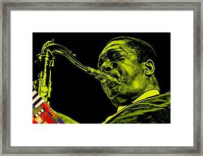 John Coltrane Collection Framed Print
