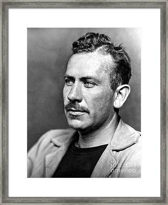 John Steinbeck (1902-1968) Framed Print by Granger
