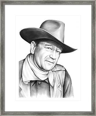 John Wayne Framed Print by Greg Joens