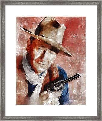 John Wayne Hollywood Actor Framed Print