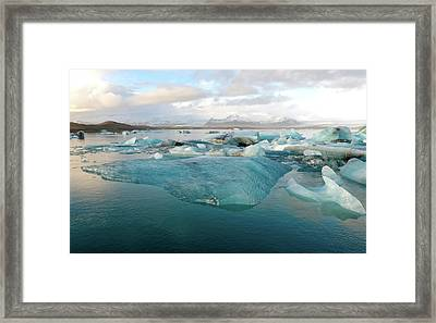 Framed Print featuring the photograph Jokulsarlon The Glacier Lagoon, Iceland 2 by Dubi Roman