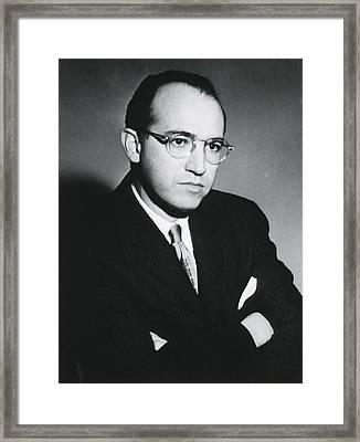 Jonas E. Salk 1914-1995, American Framed Print by Everett