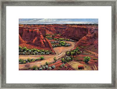Junction Canyon De Chelly Framed Print by Donald Maier