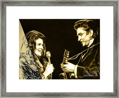 June Carter And Johnny Cash Collection Framed Print by Marvin Blaine