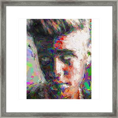 #justinbieber @justinbieber Framed Print by David Haskett