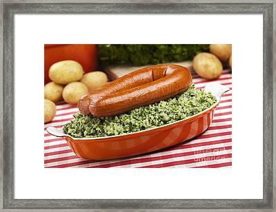 Kale With Smoked Sausage Or 'boerenkool Met Worst' Framed Print