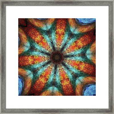 #kaleidoscope #mandala #art #digitalart Framed Print by Michal Dunaj
