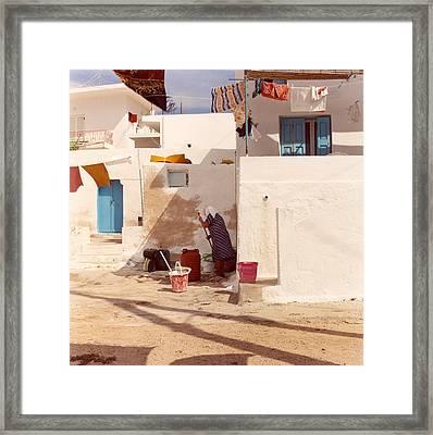 Kalymnos Woman Framed Print by Andrea Simon