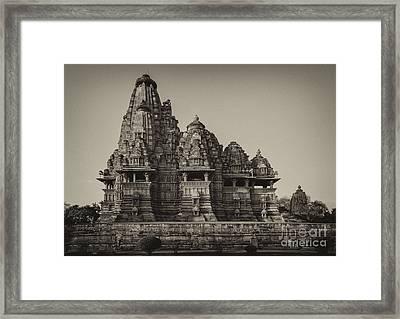 Kandariya Mahadeva Temple Framed Print by Hitendra SINKAR