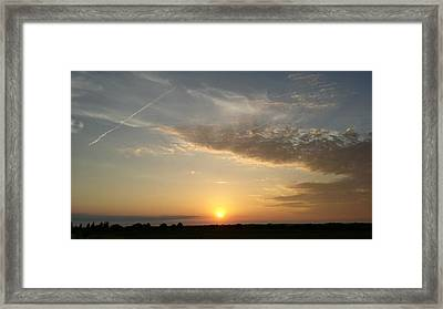 Kansas Sunset Framed Print by Dustin Soph