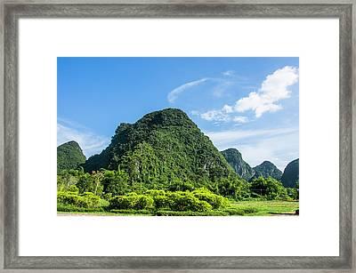 Karst Mountains Scenery Framed Print