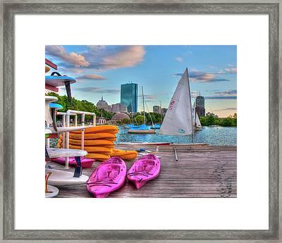 Kayaking On The Charles River - Boston Framed Print by Joann Vitali