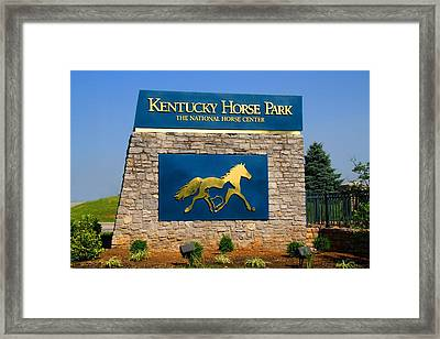 Kentucky Horse Park Framed Print