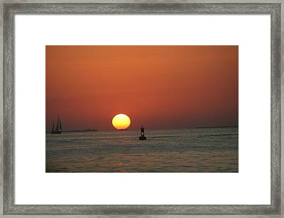 Key West Sunset Framed Print by Randy Morehouse