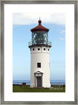 Kilauea Lighthouse On Kauai Framed Print by Catherine Sherman
