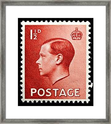 King Edward 8th Postage Stamp Framed Print by James Hill