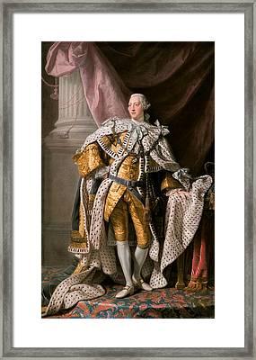 King George IIi In Coronation Robes Framed Print