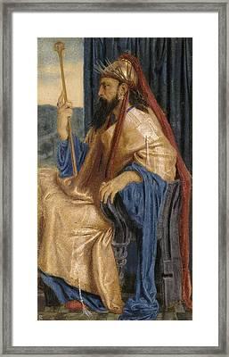 King Solomon Framed Print by Simeon Solomon