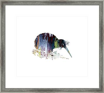 Kiwi Bird Framed Print by Mordax Furittus
