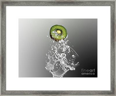Kiwi Splash Framed Print by Marvin Blaine