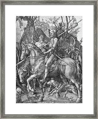 Knight Death And The Devil Framed Print