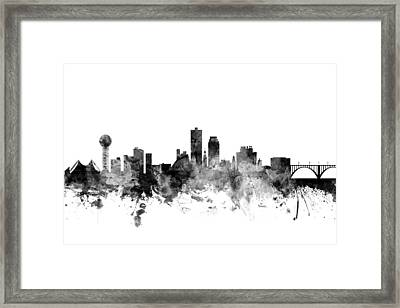 Knoxville Tennessee Skyline Framed Print