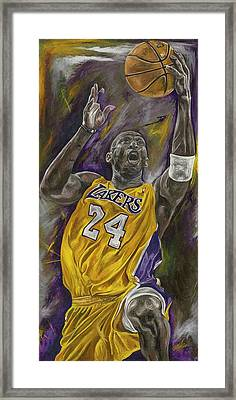 Kobe Bryant Framed Print by David Courson