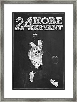 Kobe Bryant Framed Print by Semih Yurdabak
