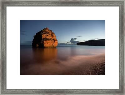 Ladram Bay In Devon Framed Print
