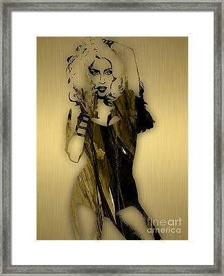 Lady Gaga Collection Framed Print by Marvin Blaine