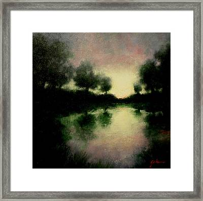 Lagoon At Sunset Framed Print