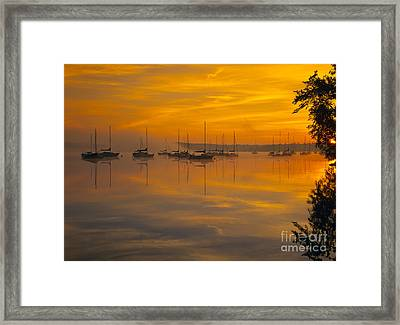 Lake Massabesic - Auburn New Hampshire Usa Framed Print by Erin Paul Donovan
